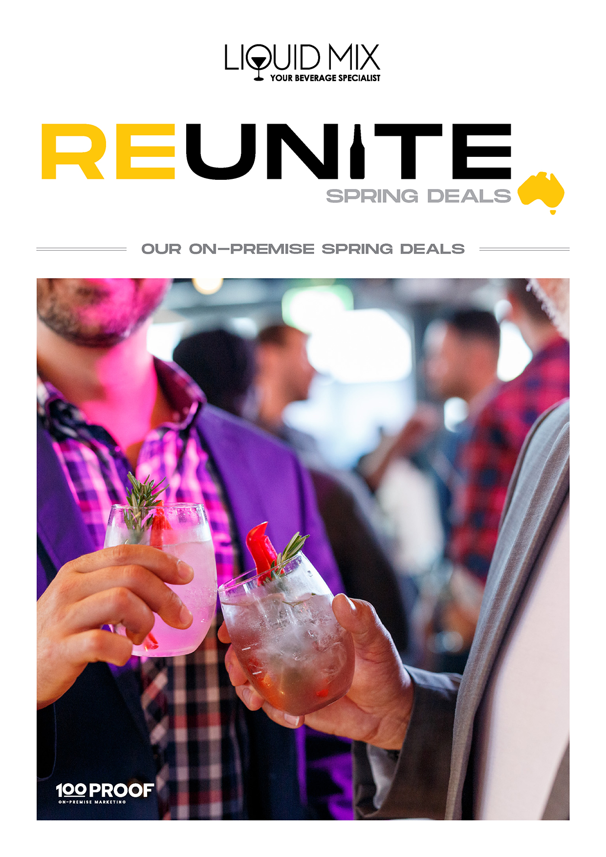 To see some great deals from our latest Reunite catalogue please contact your Liquid Mix rep